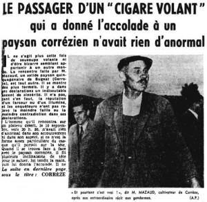 Nord-Eclair, 16 septembre 1954. L'épisode corrézien relaté dans la presse régionale.