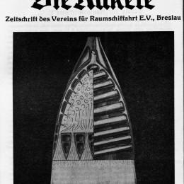 Fig. 6. H. et D. von Römer, Frontispice de la revue Die Rakete, juillet 1927.