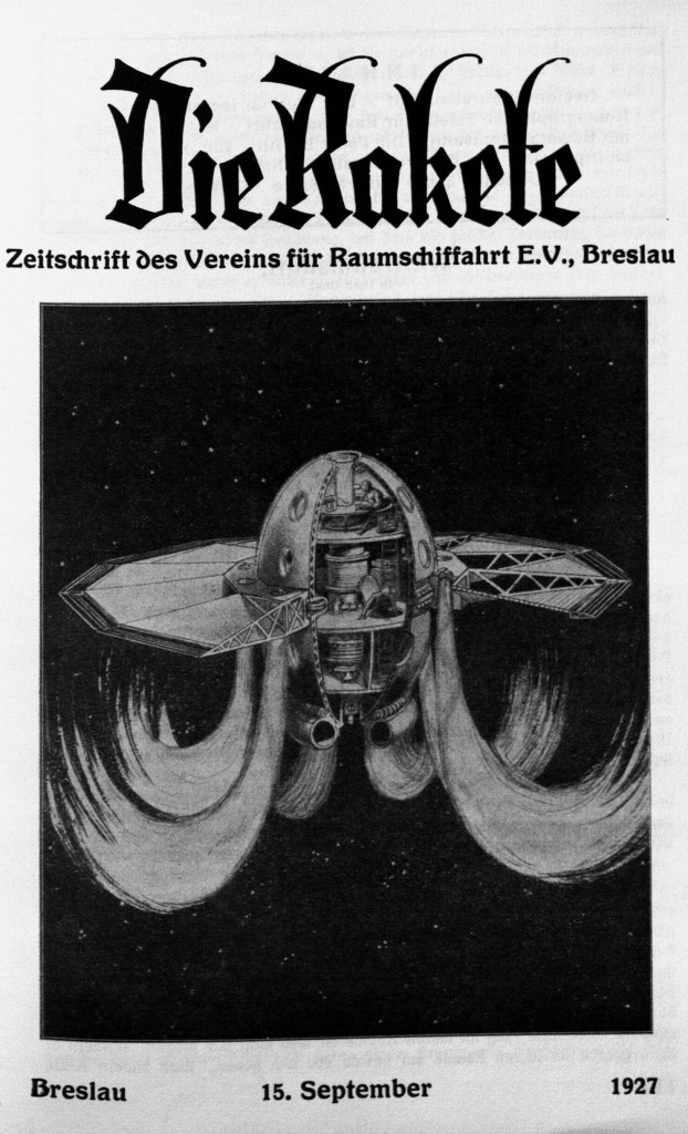Fig. 7. H. et D. von Römer, Frontispice de la revue Die Rakete, septembre 1927.
