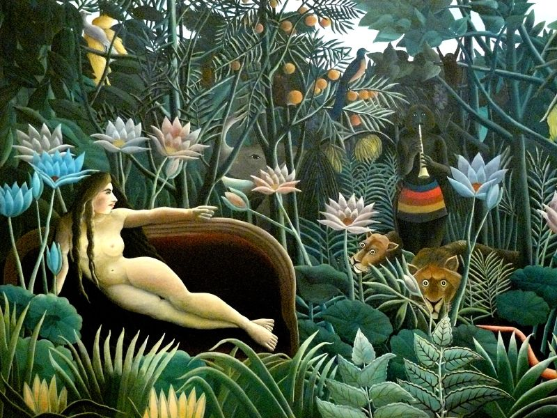 « The fact that there is a notion of the supernatural is not just a transcendental error, it retains some of the affective sacredness implied by the concept of nature. We should ask about the consequences of losing that. » Le Douanier Rousseau, Le Rêve, 1910 (tableau conservé au MoMa).