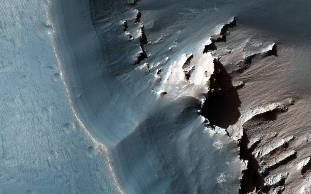 « Space is the most of what nature is. » Ici, sur Mars, la région Labyrinthe Noctis par la sonde Mars Reconnaissance Orbiter (novembre 2015). © NASA.