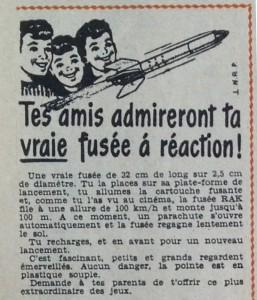 Les publicités dans Tintin : de l'espace et des fusées à vendre...