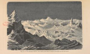 Lebreton, Vue idéale prise dans la région montagneuse du sud-ouest, in A. Guillemin, Le ciel, 1864.