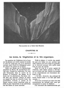 T. Moreux, Rainure de la Lune, Un jour dans la Lune, 1912.