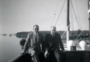 Harry Wexler et Carl-Gustav Rossby à Woods Hole, en mai 1956. © Fleming,