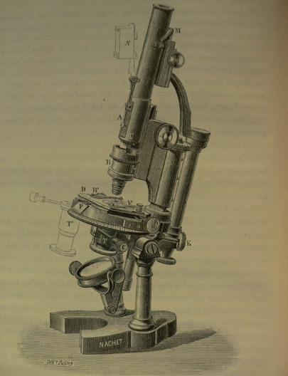 Modèle de microscope de Nachet Gorecky, 1887
