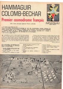 Article de Pierre Louis, « Hammaguir, Colomb-Béchar. Premier cosmodrome français », Tintin, n° 917, 17 mai 1966, p. 25.