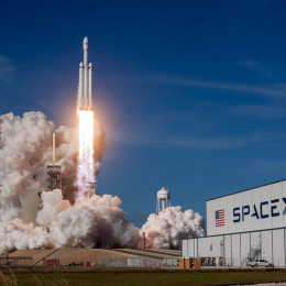 Falcon Heavy de Space X (c) Space X, 2018